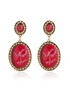 Insia Frolic Wine Fashion Earrings