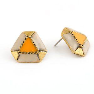 Insia Belissa Orange Trendy Earrings