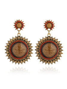 Insia Zurie Copper Fashion Earrings