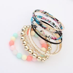 Insia Aqua Bloom Trendy Bangles Set