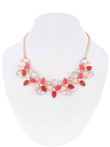 Insia Floral Blush Fashion Necklace