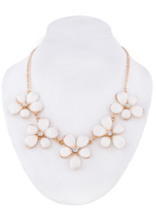 Insia Flirty Floral (White) Trendy Necklace