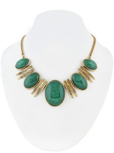 Insia Bauble Teal Fashion Necklace