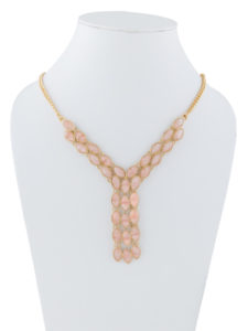 Insia Tie-Up Blush Fashion Necklace