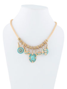 Insia Eye Candy Blue Allergy-Free Necklace