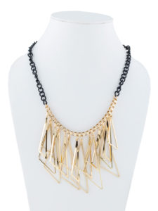 Insia Triangle Tangle Trendy Necklace