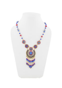 Insia Corona Blue Fashion Necklace