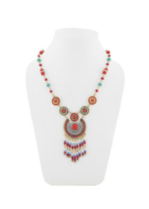 Insia Corona Red Fashion Necklace