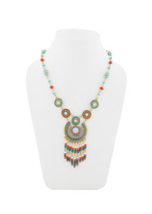 Insia Corona Turq Fashion Necklace