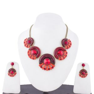Insia Cosmo Red Allergy-Free Necklace Set