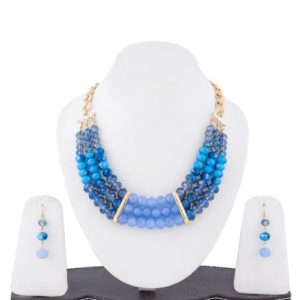 Insia Crystal blaze Trendy Necklace Set