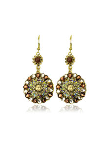 Insia Fleur Bronze Fashion Earrings