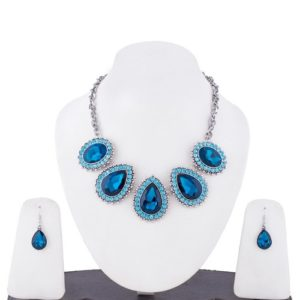 Insia Regalia Teal Allergy-Free Necklace Set