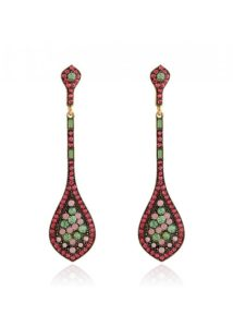 Insia Ziba Rose Trendy Earrings