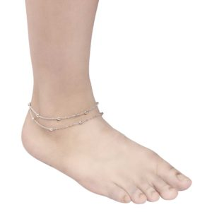 INSIA Fashion Silver Anklet