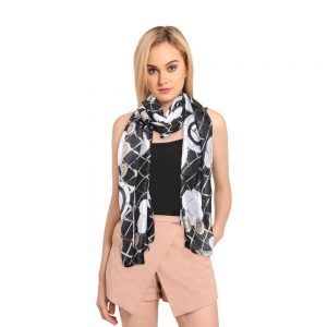 INSIA Black Silk Scarf