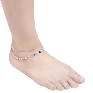 INSIA Silver Sequin Anklet