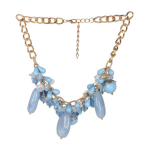 INSIA Bold Blue Statement Necklace